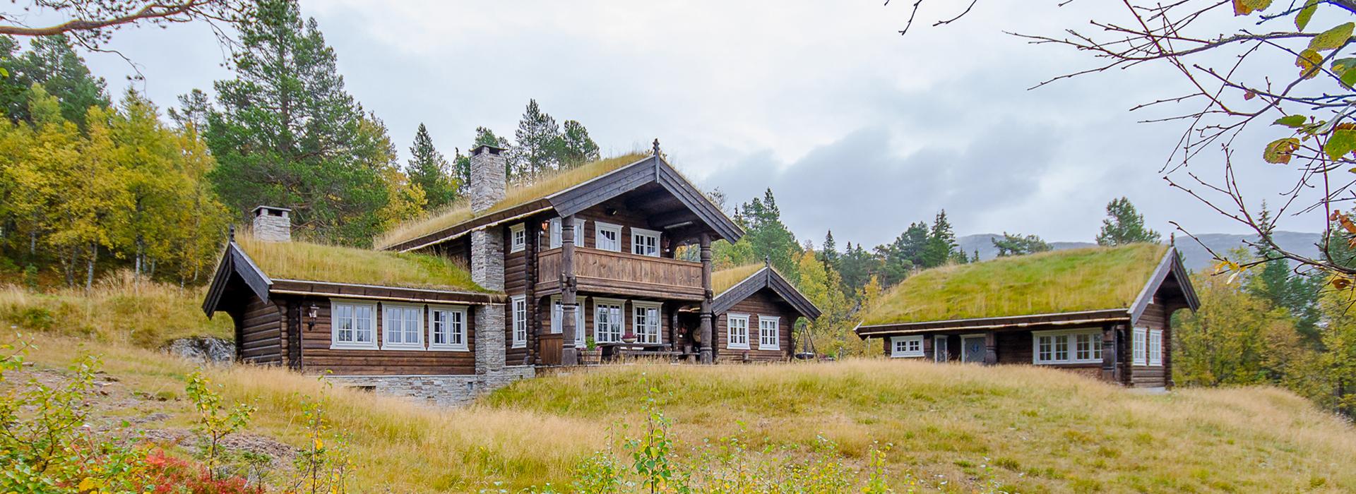 Haukeli hytter og hus laftahytte anneks rauland telemark tømmerhytte